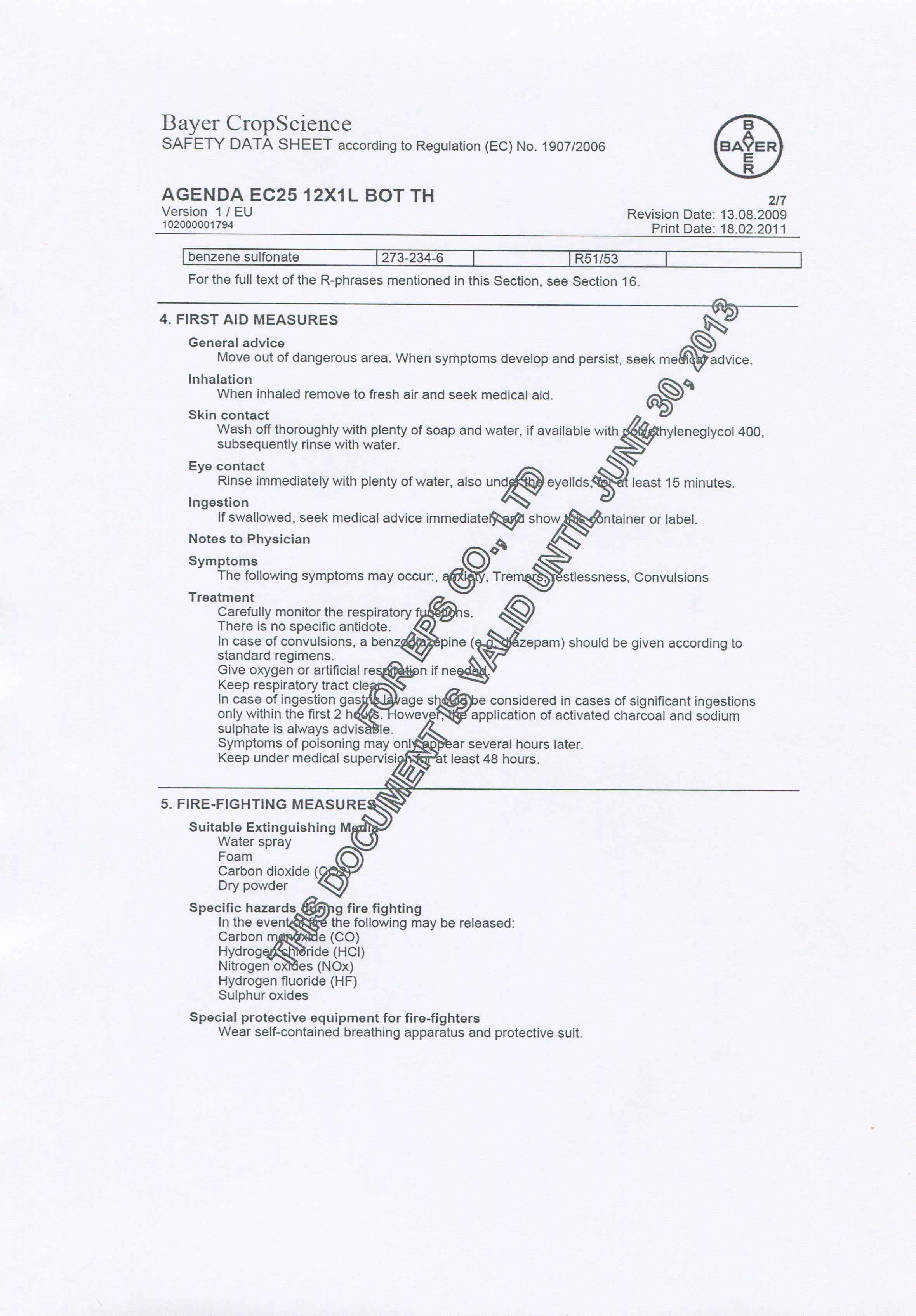 Agenda EC25- MSDS